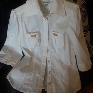 Bebe cute button down top